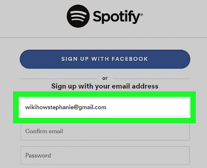 create new account at spotify